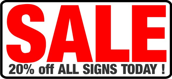 20% OFF ALL SAFETY SIGNS TODAY