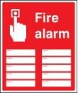 Fire alarm zones 10 sign