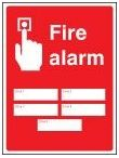 Fire alarm zones 5 sign