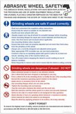 Abrasive wheel dangers & precautions poster 58124