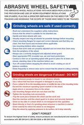 Abrasive wheel dangers & precautions poster 58124